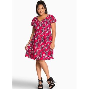 Torrid Button Challis Dress